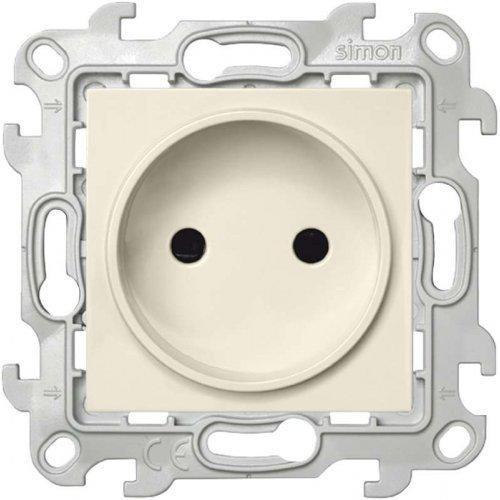 Механизм розетки 2К с защ. шторками Simon24 сл. кость 2450441-031