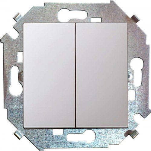 Механизм выключателя 2-кл. СП Simon15 16А IP20 бел. Simon 1591398-030