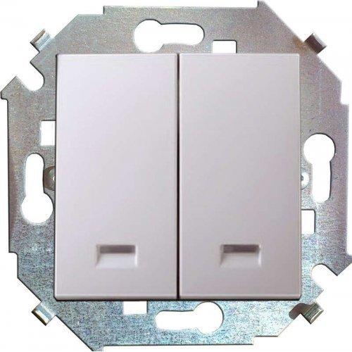 Механизм выключателя 2-кл. СП Simon15 16А IP20 с индик. бел. Simon 1591392-030