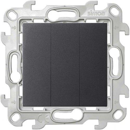 Механизм выключателя 3-кл. Simon24 графит 2450391-038