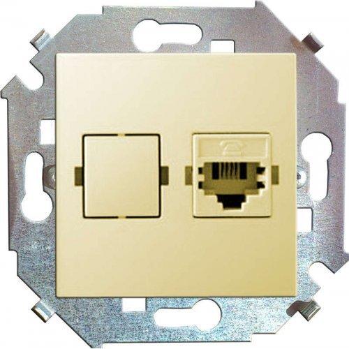 Механизм розетки телеф. СП Simon15 RJ11 сл. кость Simon 1591480-031