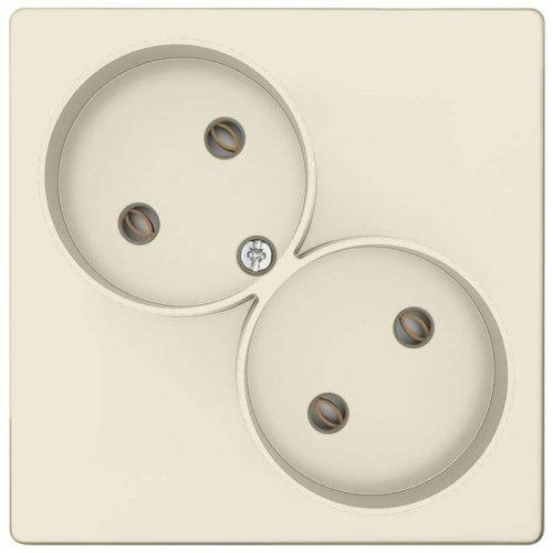 Механизм розетки 2х2К без защ. шторок Simon24 сл. кость 2450457-031