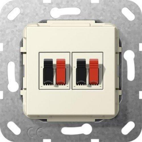 Аудиорозетка 2-местная Gira System 55 кремовый глянцевый 569301