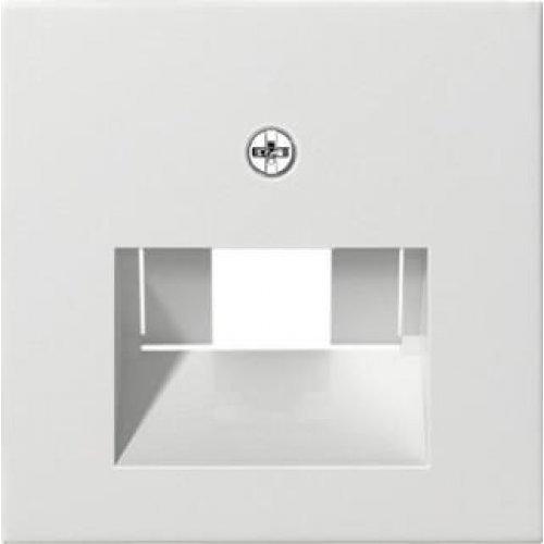 Лицевая панель Gira System 55 розетки компьютерной ISDN чисто-белый шелковисто-матовый 027027