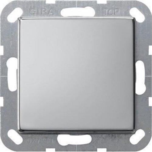 Выключатель кнопочный одноклавишный Gira System 55 10A 250V хром 0126605