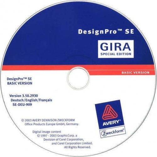 Программное обеспечение Gira System 55 для создания надписей к сенсорным выключателям 142300