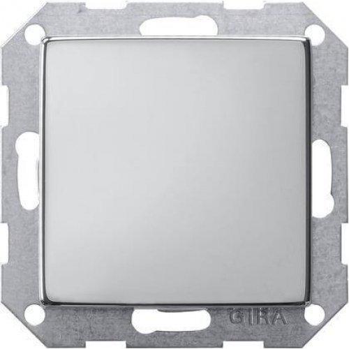 Лицевая панель Gira System 55 заглушка хром 0268605