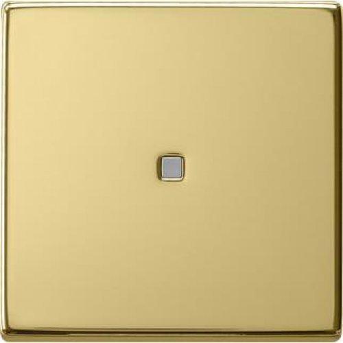 Лицевая панель Gira System 55 выключателя одноклавишного с подсветкой латунь 0290604