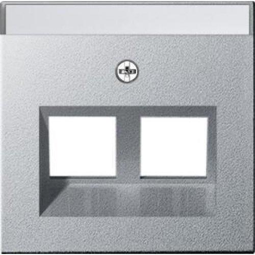 Лицевая панель Gira System 55 розетки информационной алюминий 264026
