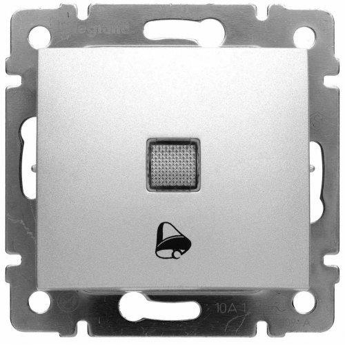 Механизм кнопки с пикт. звонка Valena 12В с подсветкой алюм. Leg 770115