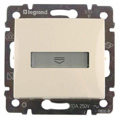 Механизм выключателя 1-кл. СП Valena 10А IP20 с картой сл. кость Leg 774134
