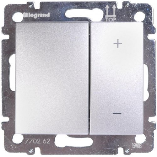 Механизм светорегулятора СП Valena 40-600Вт кноп. алюм. Leg 770274