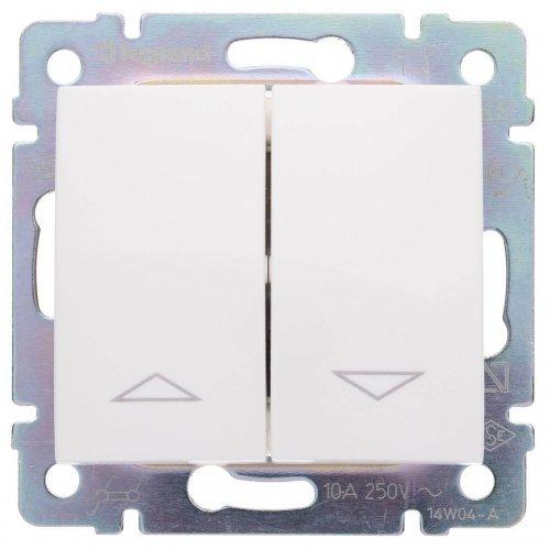 Механизм переключателя 2-кл. СП Valena для упр. приводом 10А с мех. блок. бел. Leg 774404