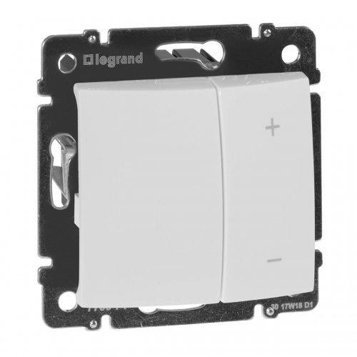 Механизм светорегулятора СП Valena 600Вт нажимн. бел. Leg 770074