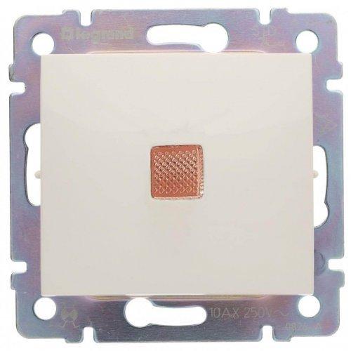 Механизм переключателя 1-кл. СП Valena на 2 напр. с оранж. инд. сл. кость Leg 774325