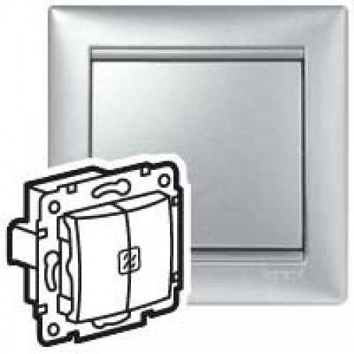 Механизм выключателя 2-кл. СП Valena с подсветкой алюм. (DIY-упак.) Leg 694344