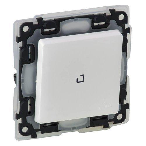 Механизм выключателя 1-кл. СП Valena Life 10А IP44 250В 10АХ с подсветкой с лиц. панелью бел. Leg 752161