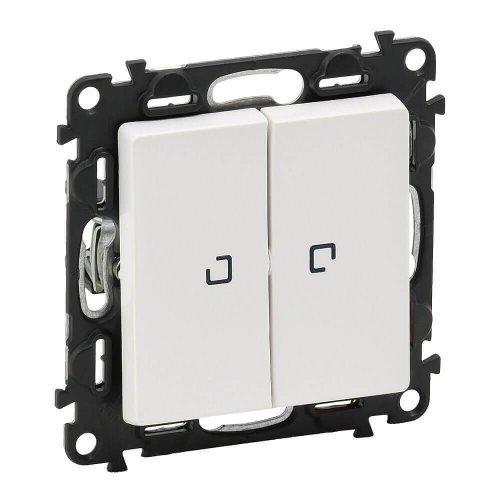 Механизм переключателя 2-кл. СП Valena Life 10АХ IP20 250В с подсветкой с лиц. панелью бел. Leg 752409