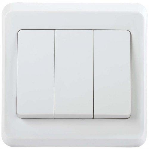 Выключатель 3-кл. СП ВЕГА ВС10-3-0-ВБ 10А бел. ИЭК EVV30-K01-10-DM