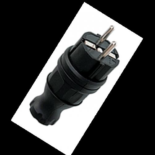 Вилка прямая каучуковая 230В 2P+PE 16A IP44 PROxima