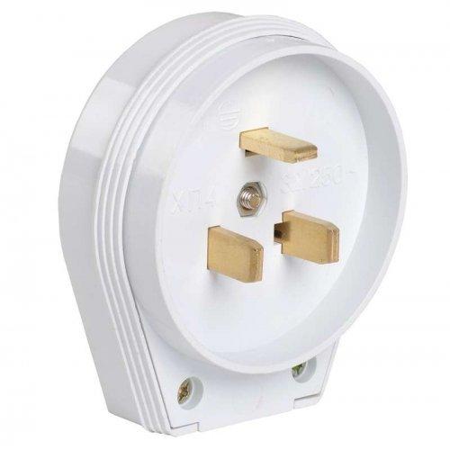 Вилка ВПпл10-01-Ст разборная для плиты 32А с заземл. контактом бел. ИЭК EVP10-32-01-K01