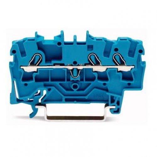 Клемма 3-проводная проходная 0.25-2.5(4)мм2 на DIN рейку