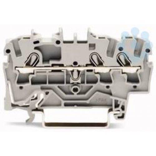 Клемма 3-проводная проходная 0.25-2.5(4)мм2 на DIN рейку 2002-1301 WAGO