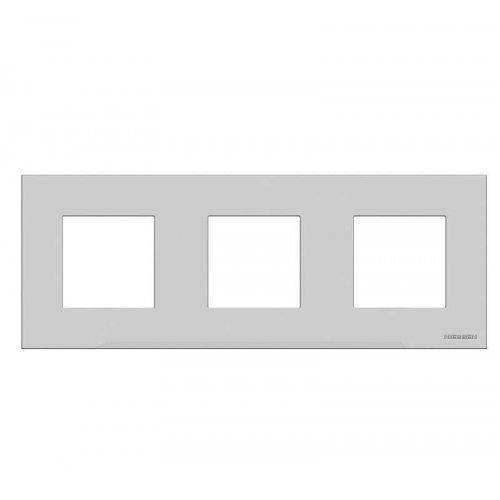 Рамка 3-м 6мод. Zenit бел. ABB N2273 BL