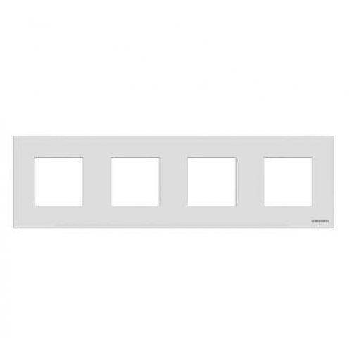 Рамка 4-м 8мод. Zenit бел. ABB N2274 BL