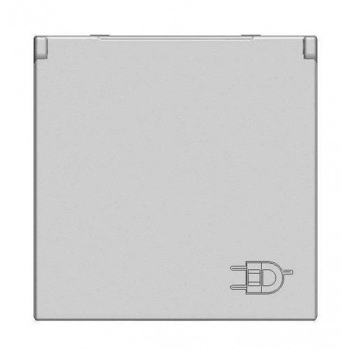 Механизм розетки Zenit 16А 250В с защ. крышкой защ. шторки с заземл. серебристый ABB N2288.1 PL