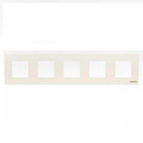 Рамка 5-м 10мод. Zenit бел. ABB N2275 BL