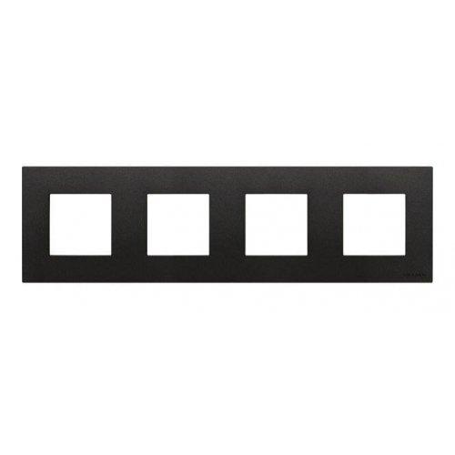 Рамка 4-постовая ABB Zenit антрацит 2CLA227400N1801