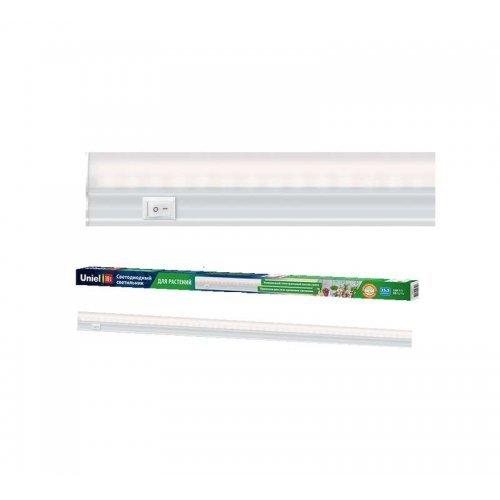 Светильник светодиодный для растений ULI-P10-18W/SPFR WHITE 550мм IP40 линейный выкл. на корпусе спектр для фотосинтеза бел. Uniel UL-00002258