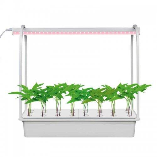 """Светильник светодиодный для растений ULT-P44D-10W/SPLE AQUA SIMPLE WHITE IP20 с подставкой """"Минисад AQUA SIMPLE"""" спектр для фотосинтеза Uniel UL-00004499"""