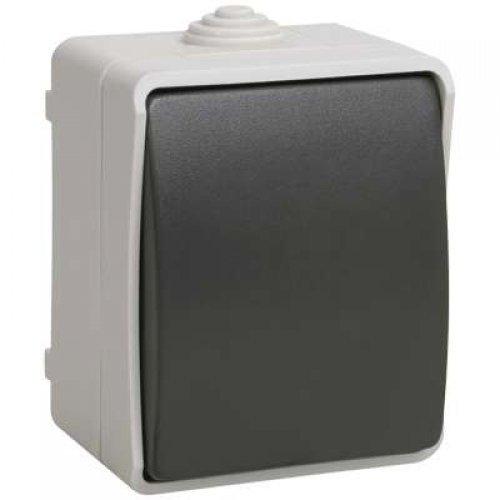 Выключатель 1-кл. ОП ФОРС 10А 250В IP54 BC20-1-0-ФСр ИЭК EVS10-K03-10-54-DC