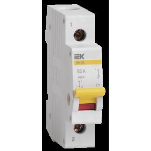 Выключатель нагрузки 1п ВН-32 63А