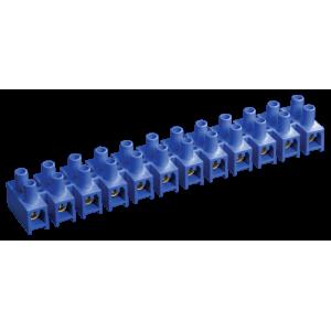 Зажим винтовой ЗВИ-15 4-10 мм.кв. 12пар не поддерживающий горение синий