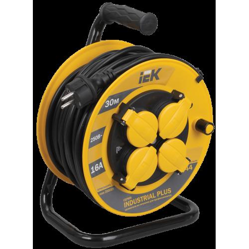 Удлинитель силовой 4 розетки шнур 30м ПВС 3х1.5мм2 УК30 с термозащитой IP44