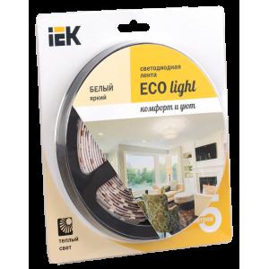Лента светодиодная LEDх60/м 5м 4.8w/m 12в тепло-белый eco