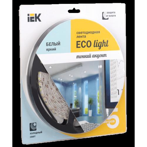 Лента светодиодная LEDх120/м 5м 9.6w/m 12в IP65 дневневной eco