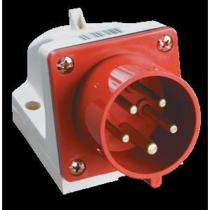 Вилка кабельная 515 стационарная 3P+E+N 16А 380В IP44