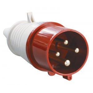 Вилка кабельная 32А 3Р+PE IР44 переносная 380В 024
