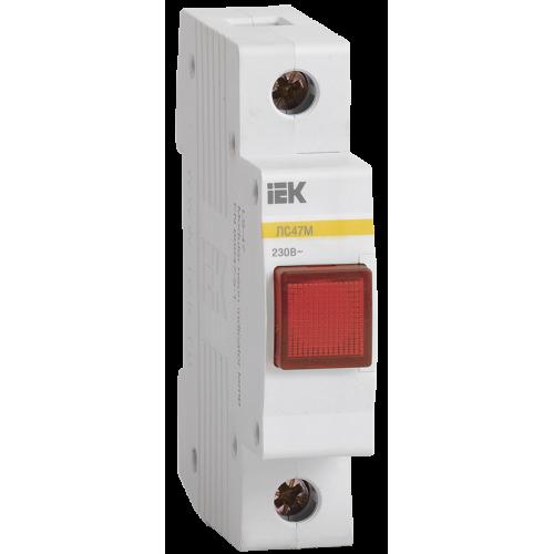 Лампа сигнальная DIN 1P красная матрица ЛС-47М