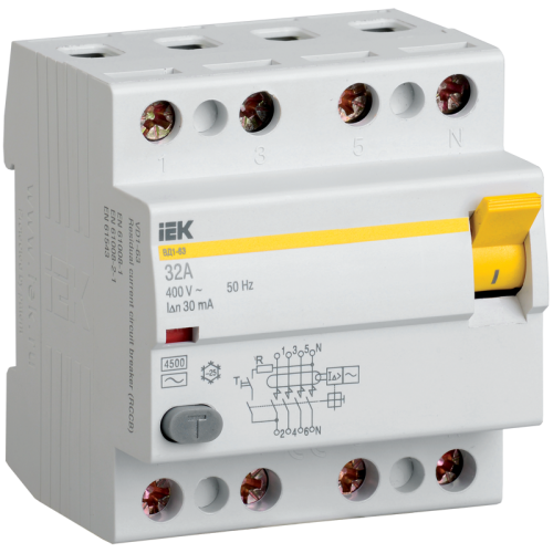 Выключатель дифференциального тока (УЗО) 4п 25А 30мА ВД1-63 АС