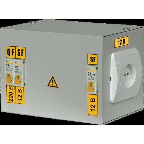 Ящик с понижающим трансформатором ЯТП-220/36/0.25 IP30 с 3 автоматами УХЛ4