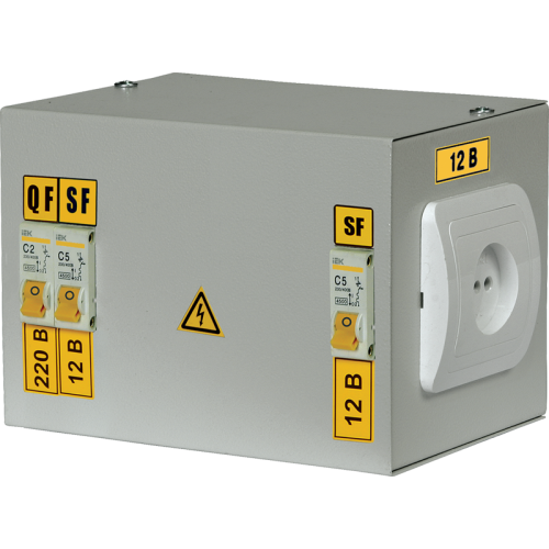 Ящик с понижающим трансформатором ЯТП-220/42/0.25 IP30 с автоматами УХЛ4