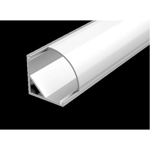Алюминиевый профиль для LED ленты с рас.для углового монтажа 2000мм посадочное место 10мм Вартон