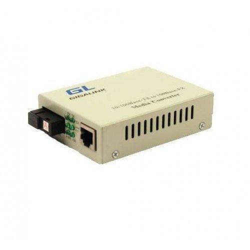 Конвертер UTP 100Мбит/с WDM без LFP SM SC Tx:1310/Rx:1550 18дБ до 20км GIGALINK GL-MC-UTPF-SC1F-18SM-1310-N