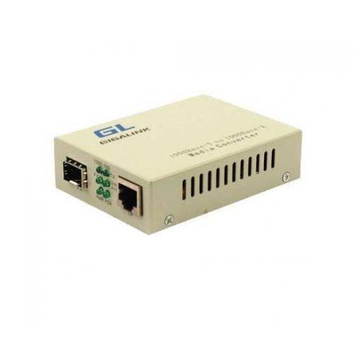 Конвертер UTP-SFP 10/100/1000Мбит/с в 1000Мбит/с (GL-GU-SFP-v2) GIGALINK GL-MC-UTPG-SFPG-F