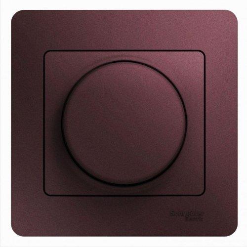 Светорегулятор (диммер) Glossa универс. 600Вт/В.А в сборе баклажан. SchE GSL001136